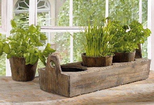 Wooden Garden Plant Tray
