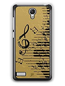 YuBingo Musical Notes Designer Mobile Case Back Cover for Redmi Note
