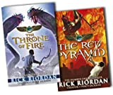 Rick Riordan Rick Riordan The Kane Chronicles 2 Books Collection Pack Set RRP: £17.29 (The Throne of Fire, The Red Pyramid)