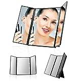 UVISTAR-Kosmetikspiegel-mit-8-LEDs-Beleuchtung-Faltbare-Beleuchtet-Schminkspiegel-Reisespiegel-3-Seite-Make-Up-Spiegel-mit-Licht-Standspiegel-mit-Baterrie-Badspiegel-Ohne-vergrerung