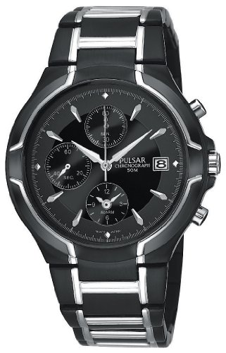 Men's Pulsar® Black Ion Chronograph Watch