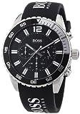 Hugo Boss - 1512868 - Montre Homme - Quartz Chronographe - Cadran Noir - Bracelet Silicone Noir