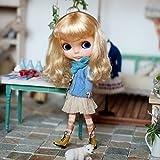 (ドーリア)Dollia ブライス 1/6ドール用 アウトフィット ツイスト ケーブル ニット カーディガント 服 ネオブライス ドール 人形 (ブルー)