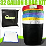 Bubble Hash Bags Ice Extractor 32 Gallon 8 Bag + micron