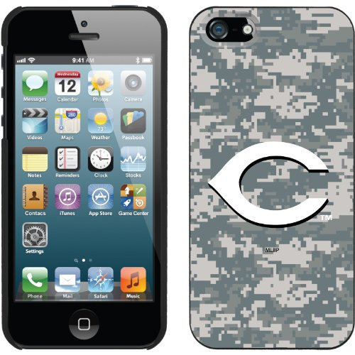 Best Price Cincinnati Reds - Digi Camo C design on a Black iPhone 5s / 5 Thinshield Snap-On Case by Coveroo
