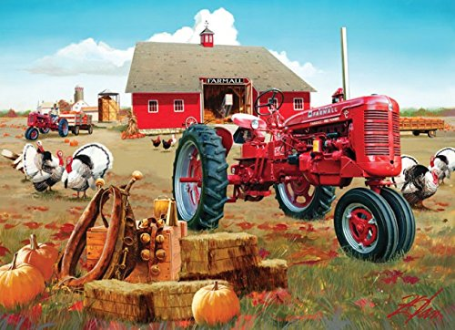 Masterpieces Puzzle Company Farmall Fall Harvest Jigsaw Puzzle (1000-Piece), Art By Donald Zolan