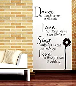 """Dance as though no one is on earth"" Wall Decals for Living Room Decoration from Mustbe"