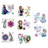 16-Piece Disney Frozen Tattoos, Multicolored
