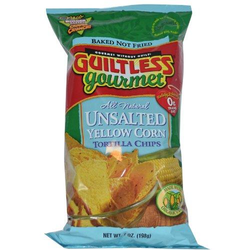 Guiltless Gourmet Unsalted Yellow Corn Tortilla Chips -- 7 oz