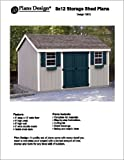 8 x 12 Gable Storage Shed Project Plans -Design #10812