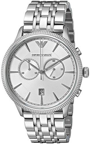 Emporio Armani AR1797 - Reloj para hombres, correa de piel de borrego color negro