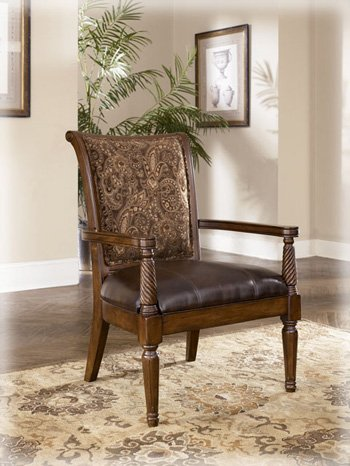 Barcelona - Antique Showood Accent Chair by Ashely Furniture