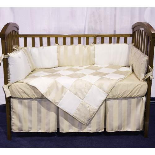 Baby Doll Bedding Gold Sensation Port-a-Crib Set, Gold - 1
