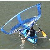 Sailskating LLC Downwind Super Kayak Sail (Blue) - Compact, Portable, Easy Set up and Deploys Quickly. Start Sailing This season!
