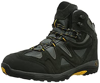 JACK WOLFSKIN Chaussure de randonnée Rugged Hiker Texapore pour Homme, Noir/Gris/Jaune, 50