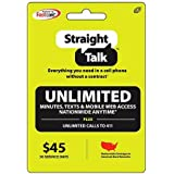 Straight Talk $45 30 Day Service Card - Mail Delivery Only