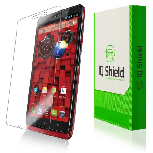 Iq Shield Liquidskin - Motorola Droid Ultra Screen Protector With Lifetime Replacement Warranty - High Definition (Hd) Ultra Clear Phone Smart Film - Premium Protective Screen Guard - Extremely Smooth / Self-Healing / Bubble-Free Shield - Kit Comes In Fru