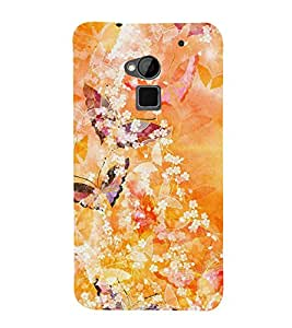 Butterfly Design 3D Hard Polycarbonate Designer Back Case Cover for HTC One Max