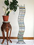 Artisan Modern Wave 140 DVD/BluRay Wave Tower or Wall Mount Storage Rack (Base Included)