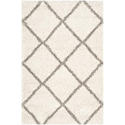 """Safavieh Hudson Shag Collection SGH281B Grey and Ivory Area Runner, 2 feet 3 inches by 8 feet (2'3"""" x 8')"""