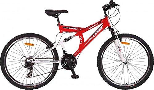 26 Zoll Full Suspension Mountainbike MTB Fahrrad Umit Redhawk, Farben:blau-schwarz