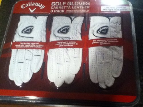 Comparamus Callaway Cabretta Leather 3 Pk Golf Gloves