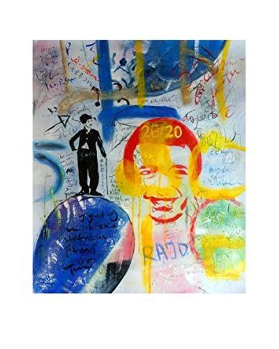 LegendArte Pintura al Óleo sobre Linezo Graffiti Senza Riferimento Temporale