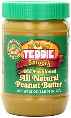 Teddie All Natural Peanut Butter, Smooth, 26-Ounce Jar (Pack of 3) by Teddie