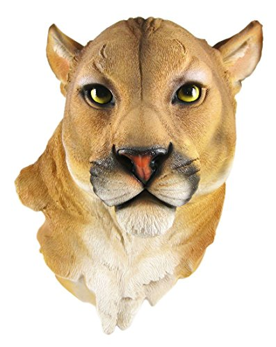 Mountain Lion Head Mount Wall Statue Bust (Statue Head compare prices)