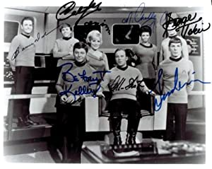 Star Trek Original Cast Signed Autographed 8 X 10 RP Photo - Mint Condition