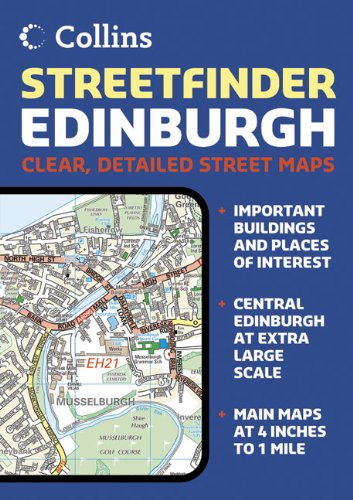 Edinburgh Streetfinder Colour Atlas (Streetfinder) (Collins Travel Guides)