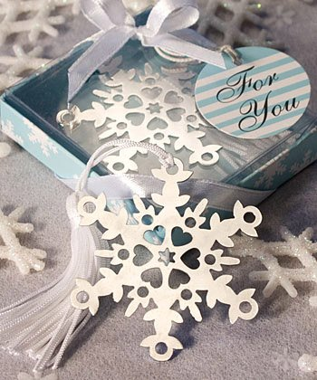 Snowflake Bookmark Wedding Favors: Perfect Winter Favors, 48