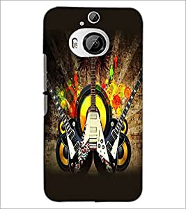 PrintDhaba Guitar D-5411 Back Case Cover for HTC ONE M9 PLUS (Multi-Coloured)