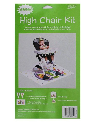 My 1St Birthday 3 Piece High Chair Kit