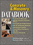 Concrete and Masonry Databook (0071361545) by Beall, Christine