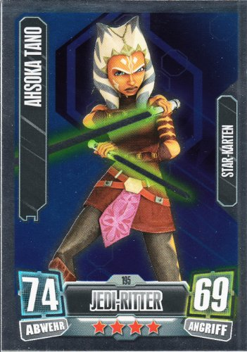 Star Wars Force Attax Serie 2 Einzelkarte 195 Ahsoka Tano Jedi-Ritter Star - Karte deutsch