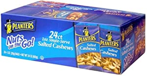 Planters Salted Cashews, 1 oz, 24 ct