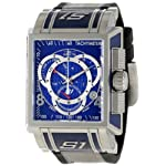 Stainless Steel S1 Quartz Chronograph Blue Dial Nylon And Rubber Strap