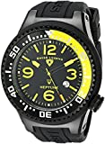Swiss Legend Men's 21818P-BB-01-YB Neptune Collection Black Ion-Plated Black Rubber Watch