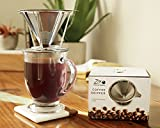 European Stainless Steel Single Cup Pour Over and Hand Drip Coffee Dripper / Filter with Stand   For Brewing Methods