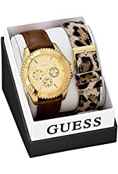 GUESS Leather Ladies Watch W0510L1