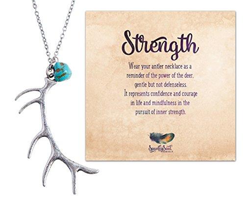 silver-bohemia-tribal-deer-antler-pendant-necklace-spunkysoul-collection