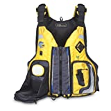 MTI Adventurewear Dio F-Spec Kayak Fishing PFD Life Jacket, Yellow Ripstop/Grey, Medium/Large
