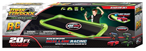 Max Traxxx Tracer Racers R/C High Speed Remote Control Starter Track Set