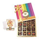 Delectable Truffles Collection Of Chocolates With Birthday Card - Chocholik Belgium Chocolates