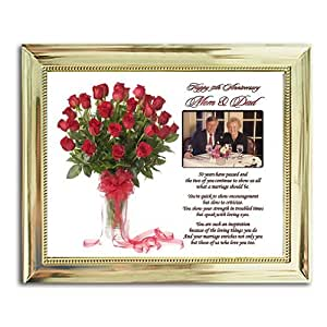 Wedding Gifts For Parents Amazon : Amazon.com - Mom and Dad 50th Anniversary Gift - Parents Golden ...