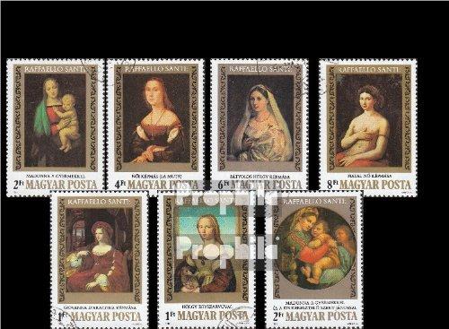 Ungarn 3612A-3618A (kompl.Ausg.) gestempelt 1983 500. Geburtstag von Raffael (Briefmarken für Sammler)