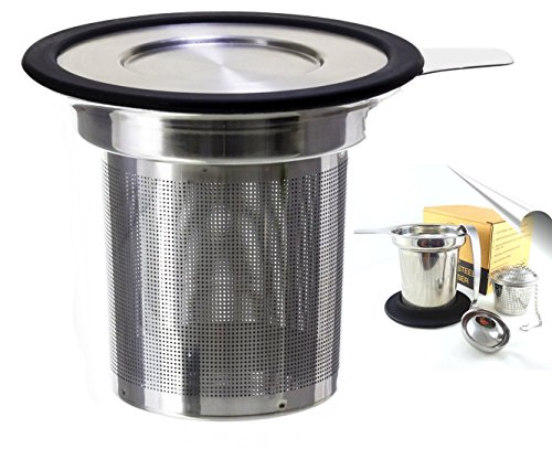 Fox Kitchen Stainless Steel Tea Infuser Set of 2 with Tea Scoop and Lid (6 Quart Tea Kettle compare prices)