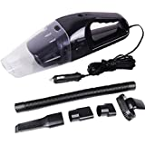 Anfukon Black : 12V 120W Car Auto Vacuum Cleaner With Super Suction And 5m Cable , Auto Wet Dry Double Usage Handheld...