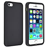 Eagle Cell SCIPHONE5S01 Barely There Slim and Soft Skin Case for iPhone 5 - Retail Packaging - Black